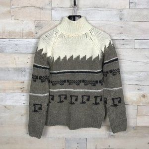 Zara Knit Turtleneck Sweater Aztec Print